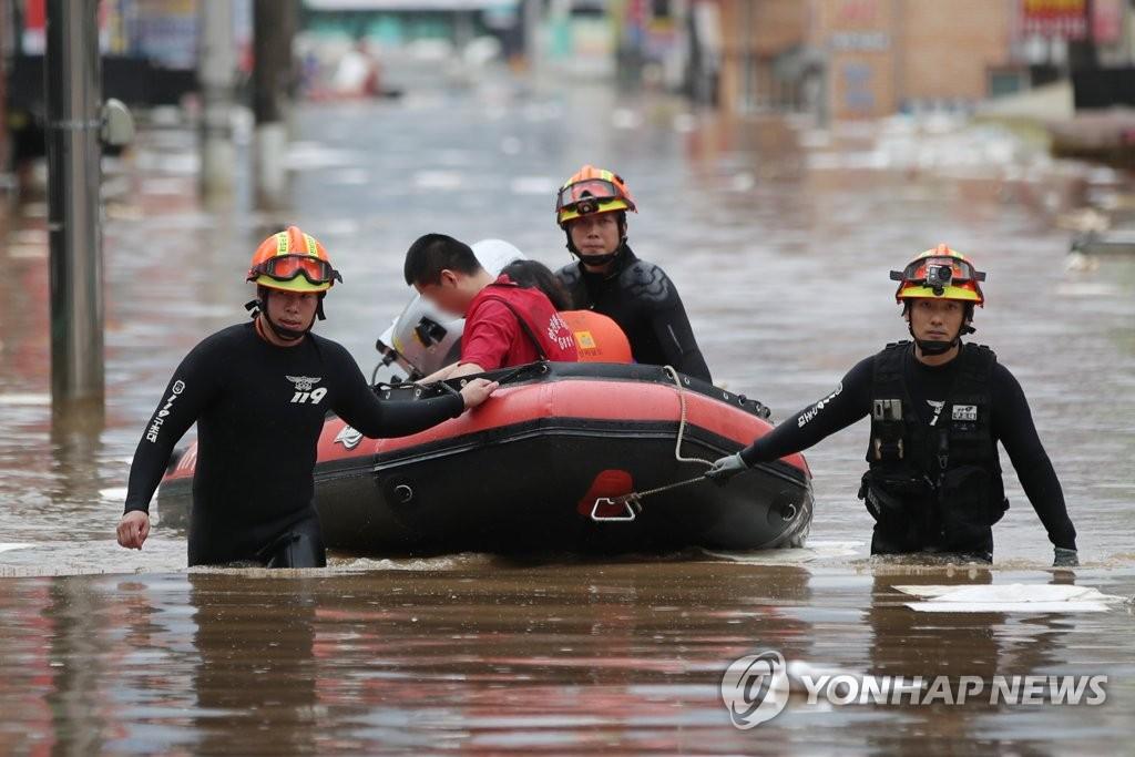 南韓今年遇9年來最嚴重水災