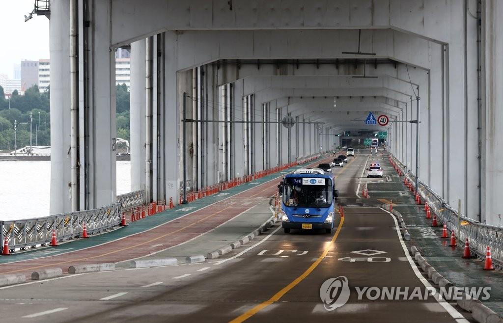 漢江潛水橋恢復通行