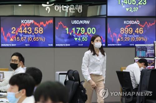 南韓股票總市值再破2000萬億韓元