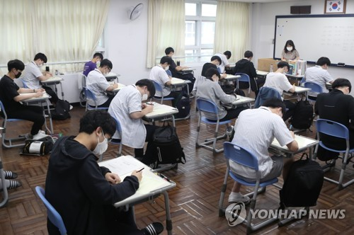 南韓今年高考將於12月3日如期舉行