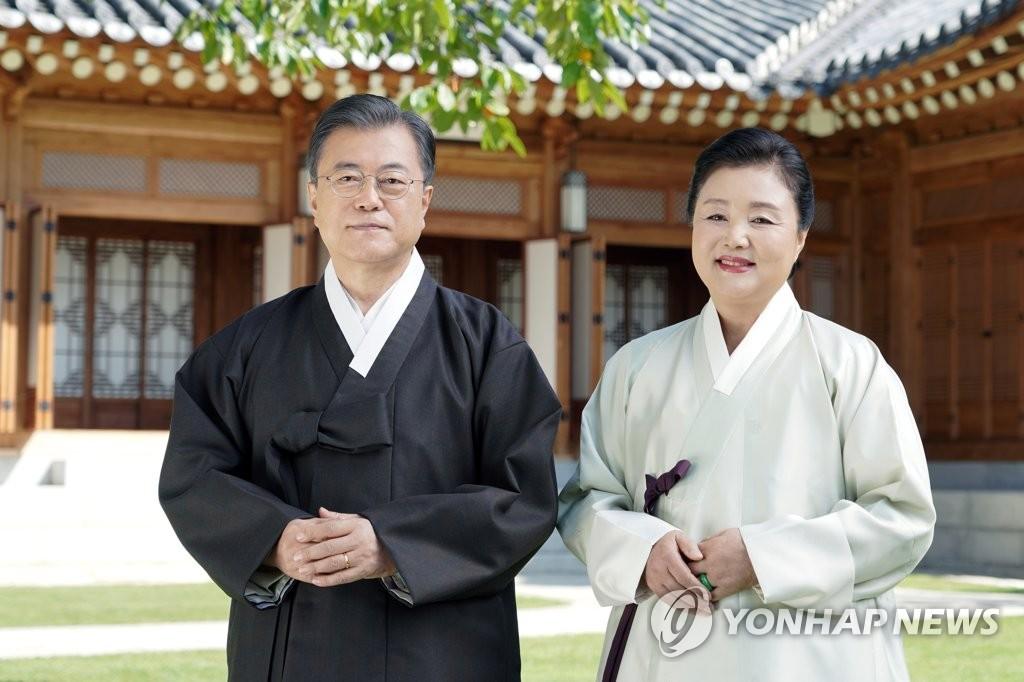 韓總統伉儷迎中秋送祝福