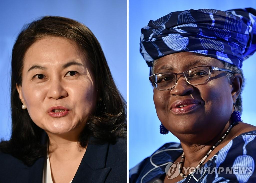 資料圖片:俞明希(左)和伊韋阿拉 韓聯社