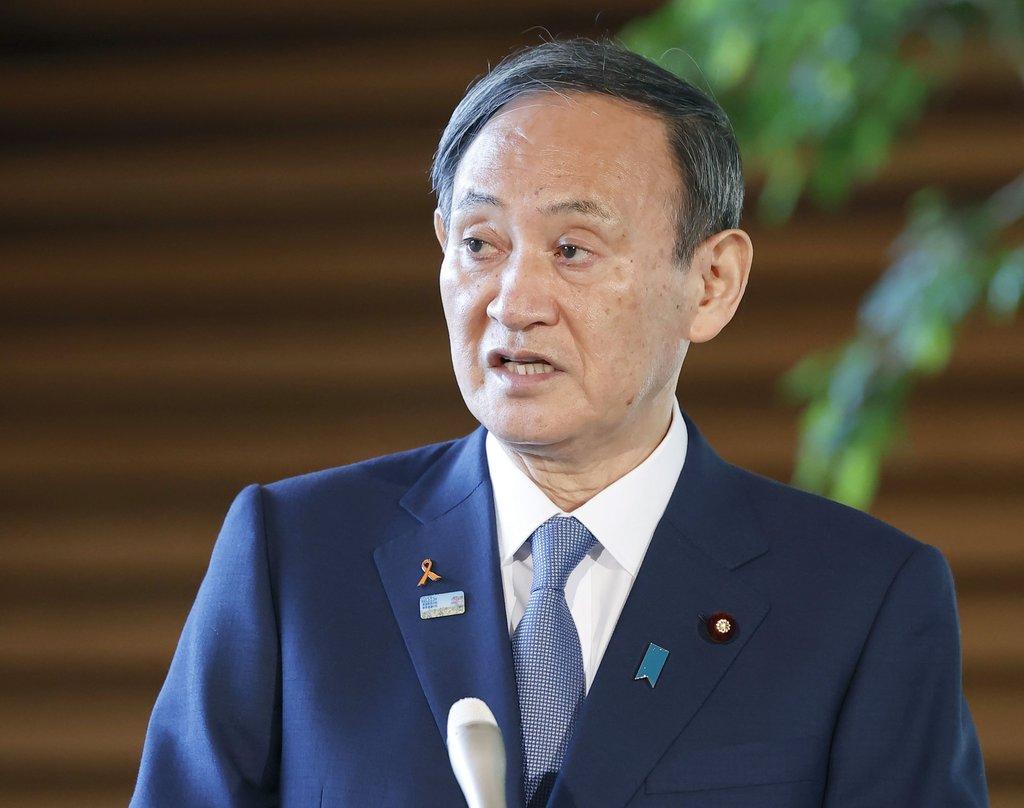 資料圖片:日本首相菅義偉 韓聯社/共同社(圖片嚴禁轉載複製)