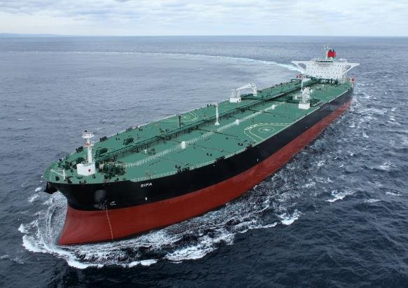 資料圖片:現代重工業建造的超大型運油船 韓聯社/南韓造船海洋供圖(圖片嚴禁轉載複製)
