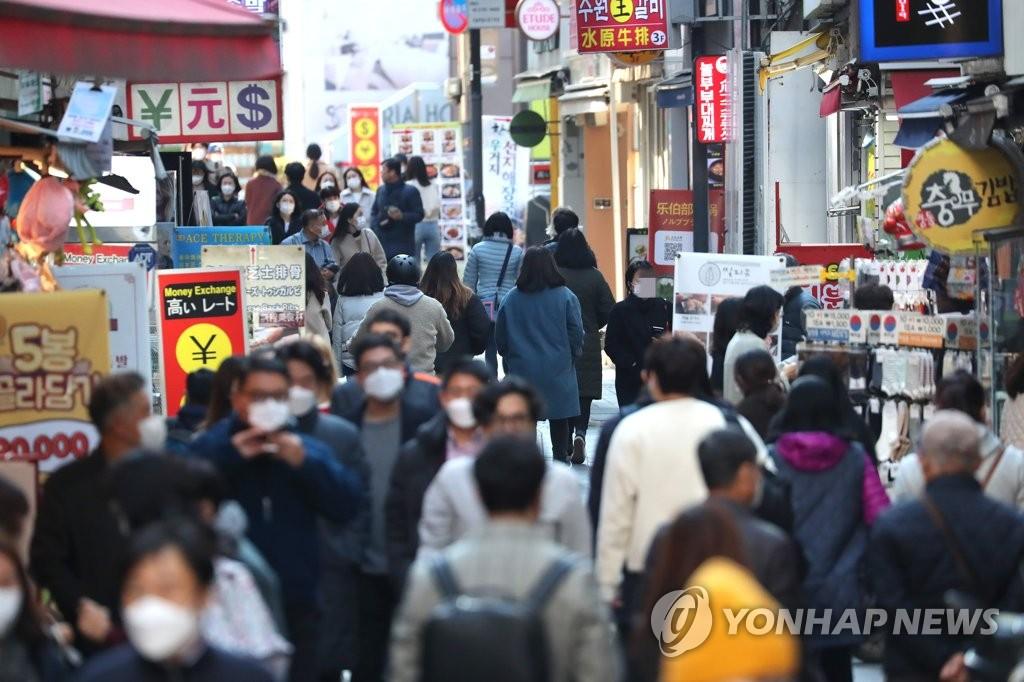 資料圖片:首爾明洞 韓聯社