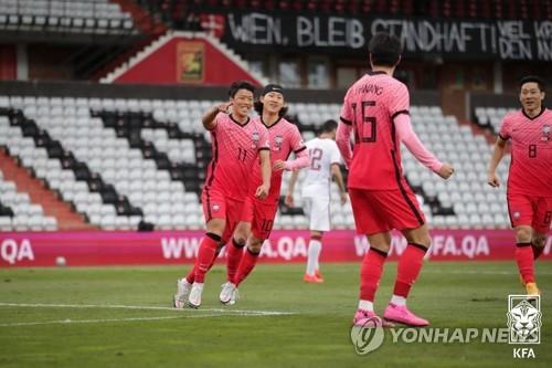 南韓國足部分選手平安回國接受隔離