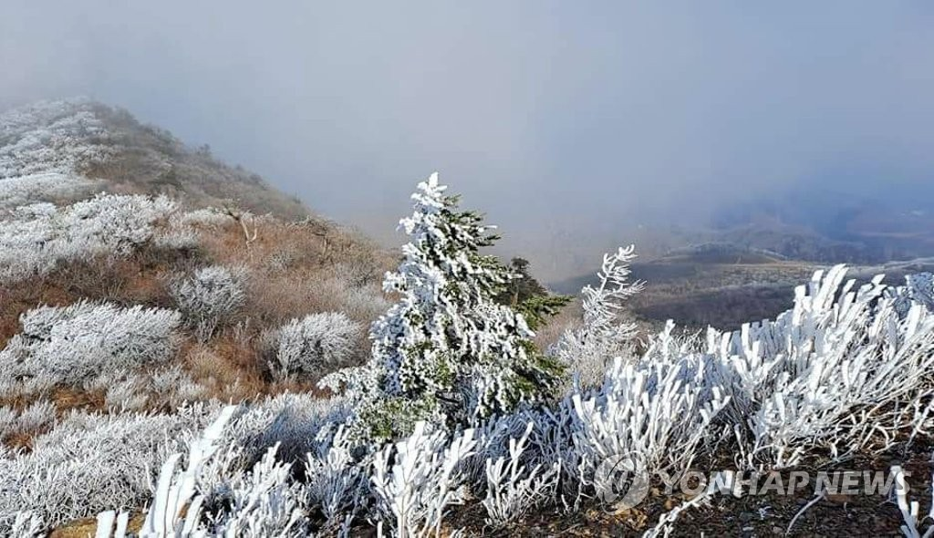 鹹白山霧凇