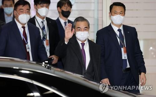 中國外長王毅訪韓