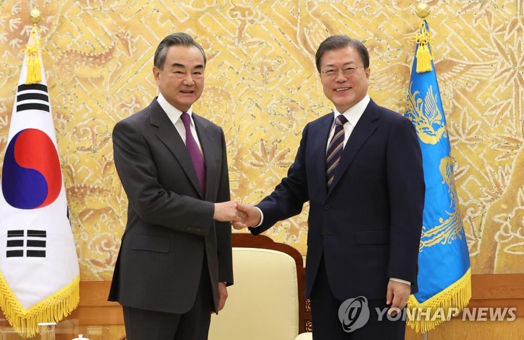 詳訊:文在寅接見中國外交部長王毅