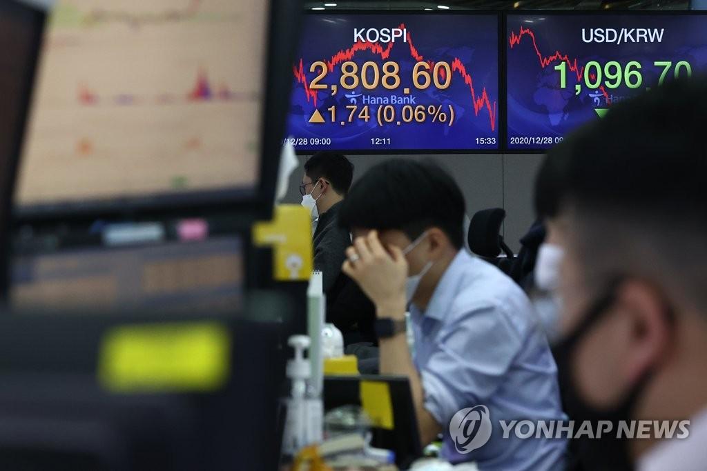 南韓綜合股指KOSPI收紅再創新高