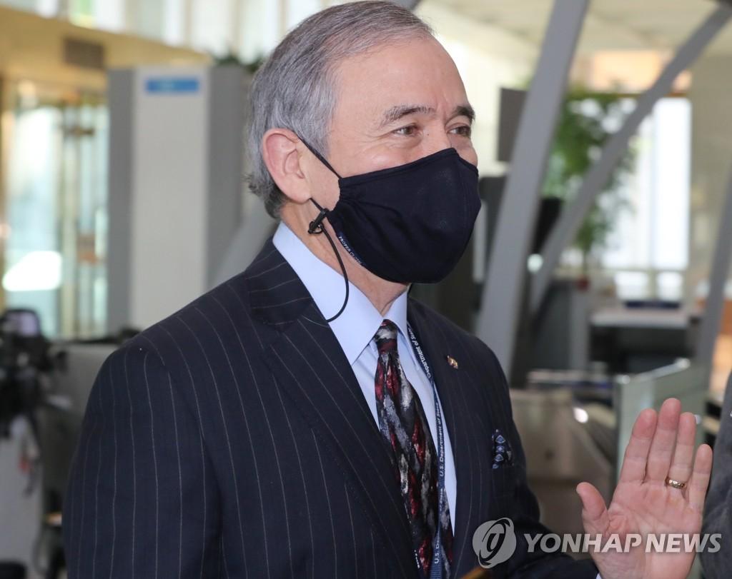美國駐韓大使哈�奡絞N於20日結束任期