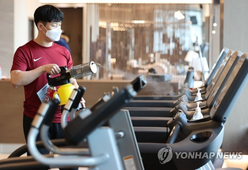 健身房為恢復營業做準備