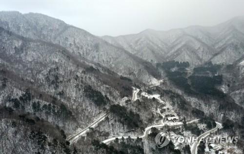 白雪皚皚的白頭大幹山脈