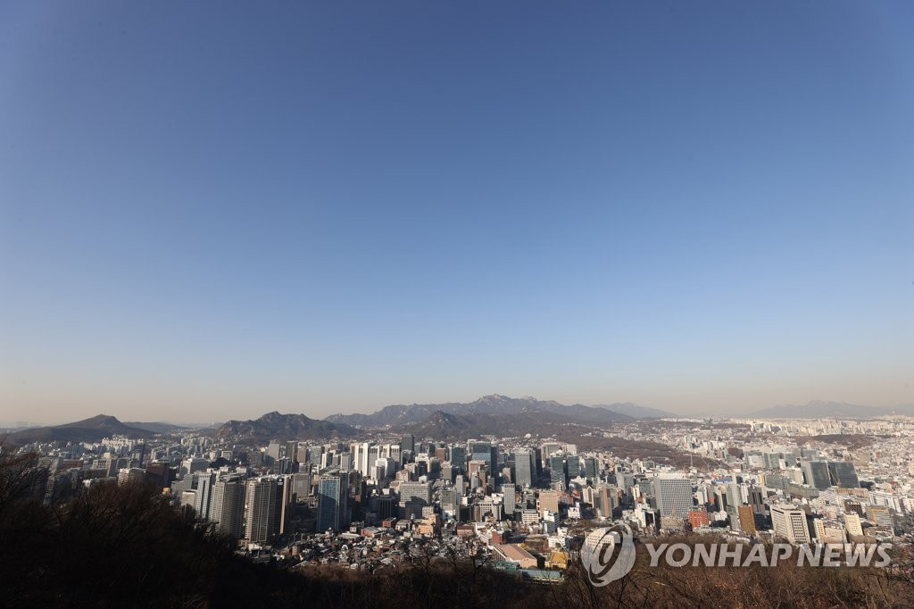 資料圖片:2021年1月19日,首爾市天空晴朗。 韓聯社