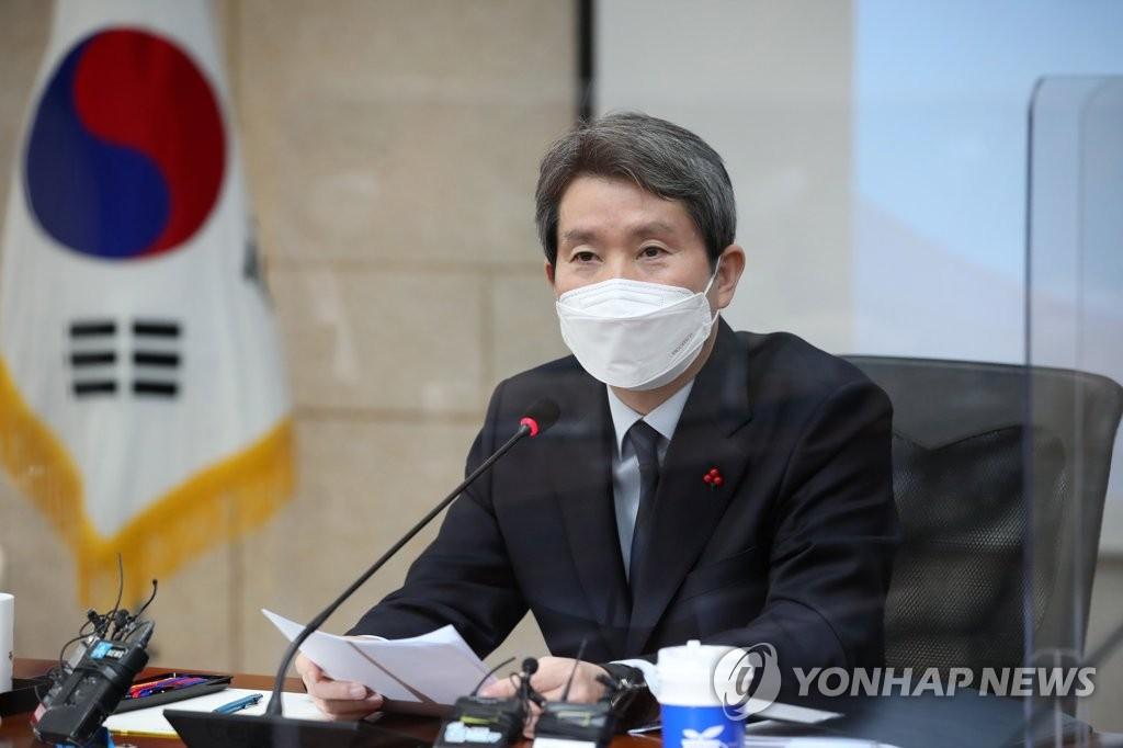 韓統一部長官與記者座談