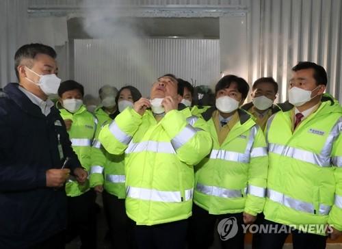 韓總理視察新冠疫苗儲運中心