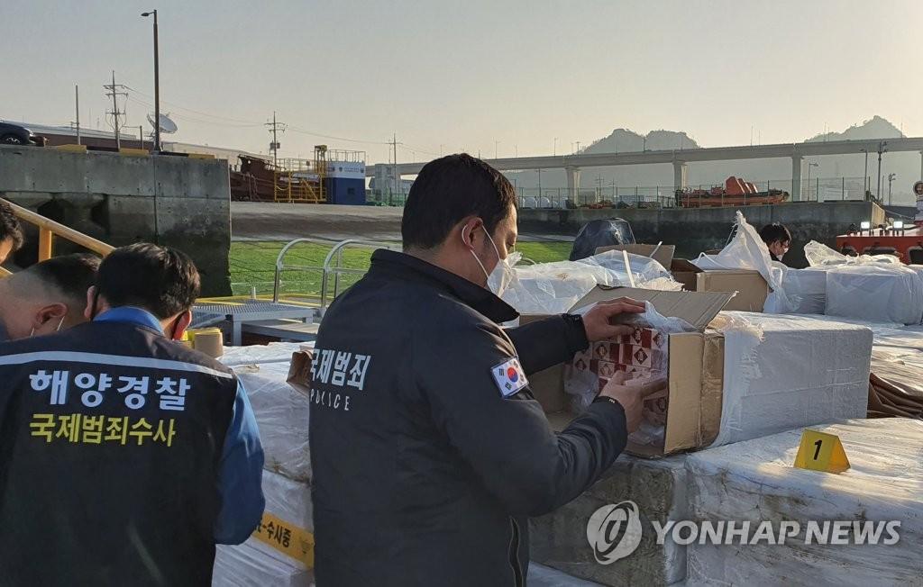 韓海警破走私中國香煙案