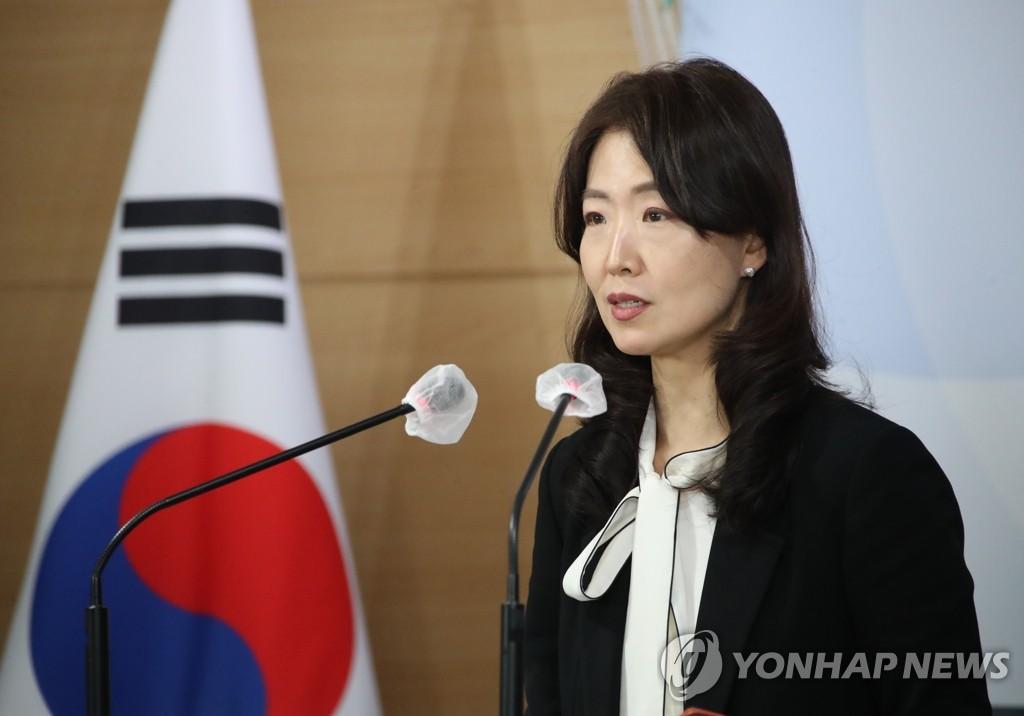 資料圖片:南韓統一部發言人李鐘珠 韓聯社