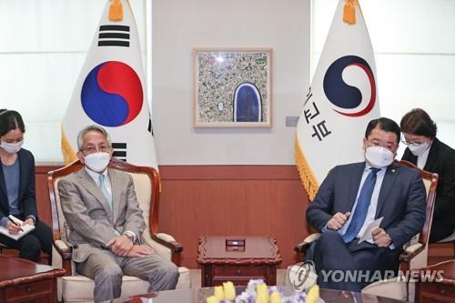韓副外長會見新任日本大使