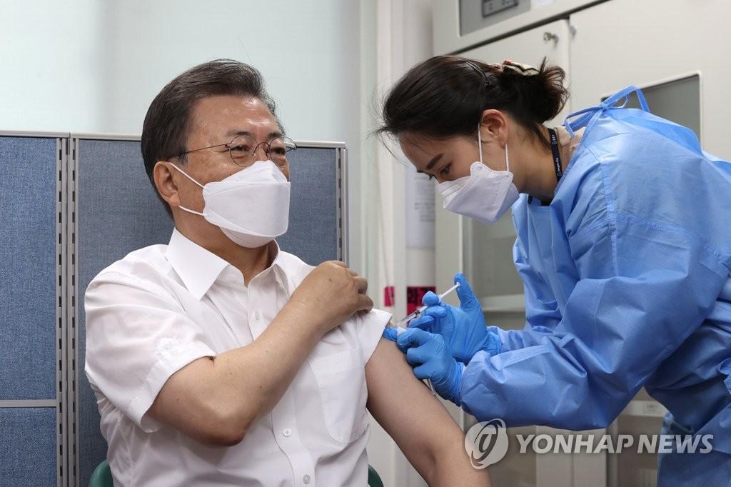 文在寅發文吁民放心接種新冠疫苗