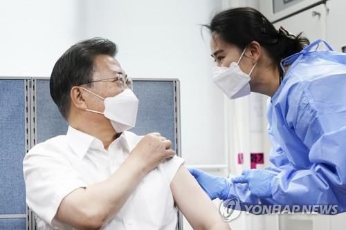 詳訊:文在寅夫婦接種阿斯利康新冠疫苗