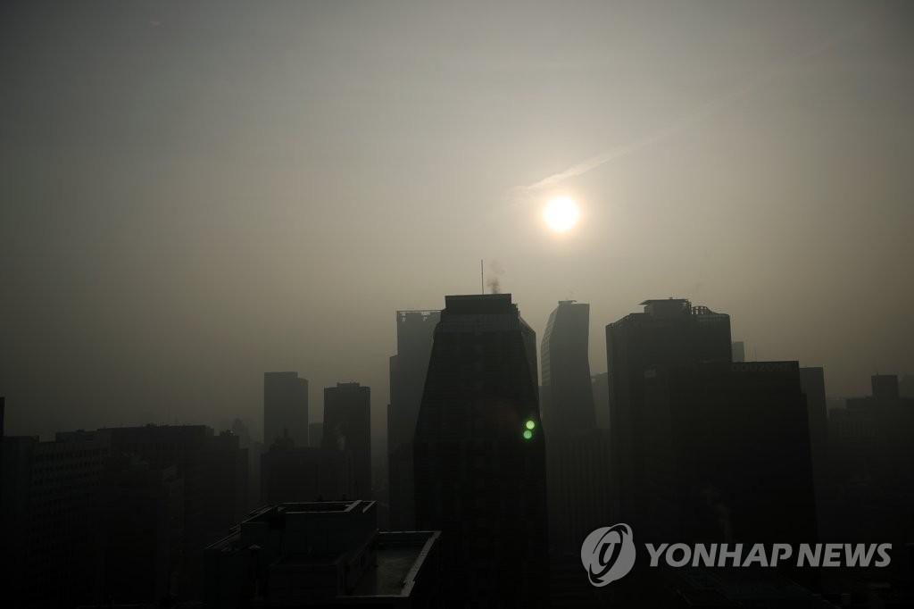 首爾市發佈PM10和PM2.5預警