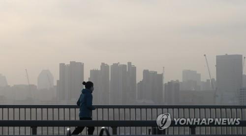 沙塵影響下南韓各地PM10濃度嚴重超標