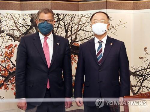 韓副總理會見聯合國氣候變化大會主席