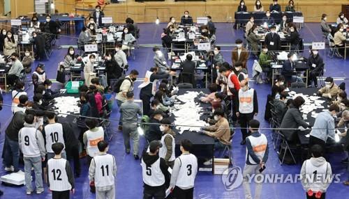 南韓四七再補選最終投票率55.5%