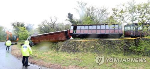 濟州生態樂園小火車翻車