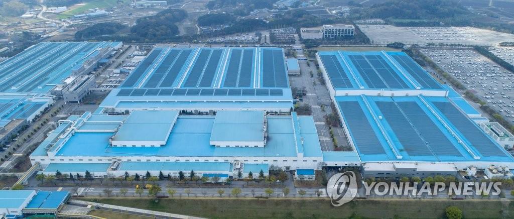 資料圖片:現代汽車牙山工廠 韓聯社
