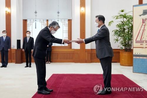 簡訊:文在寅就核廢水入海向日駐韓大使表憂慮