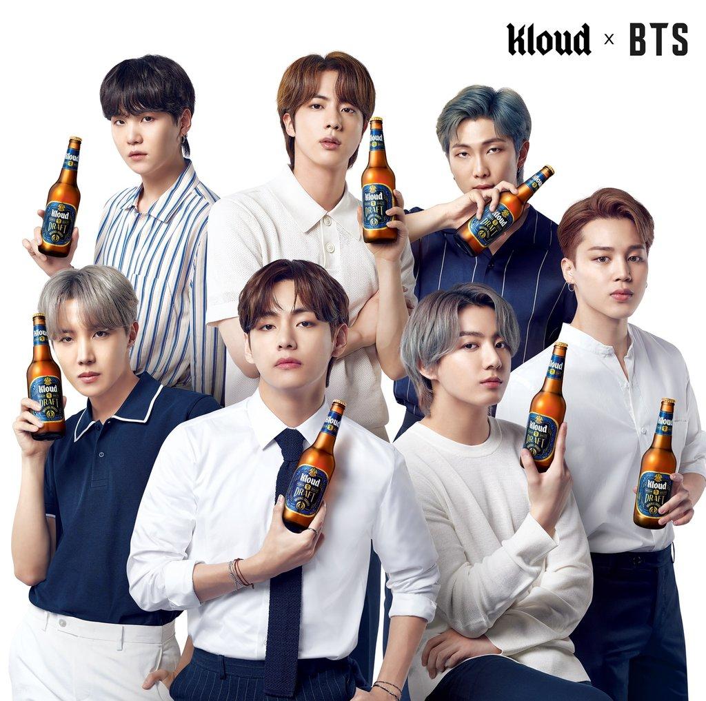 防彈少年團代言Kloud啤酒