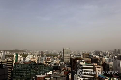 南韓多地發佈沙塵暴預警