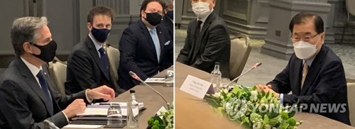 詳訊:韓外長在倫敦會晤美國務卿布林肯
