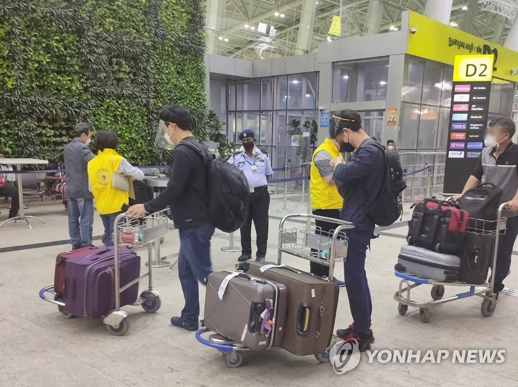 旅印韓僑準備回國