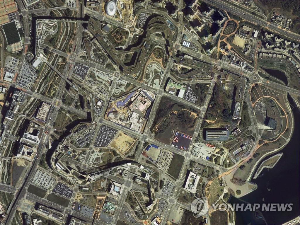 南韓政府大樓衛星圖像