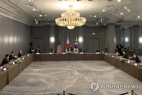 詳訊:韓美日三國外長在倫敦舉行會談