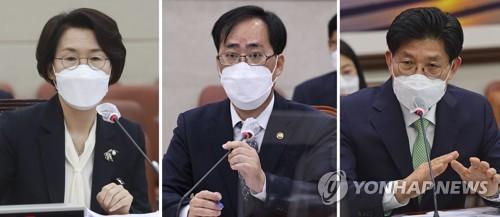 文在寅要求國會提交三部長被提名人聽證報告