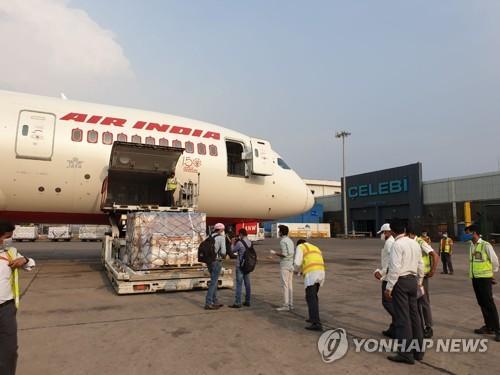 南韓援助醫療物資運抵印度