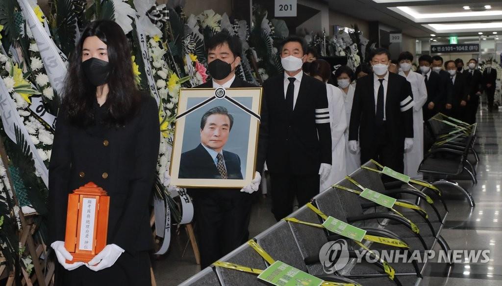 韓前總理李漢東出殯
