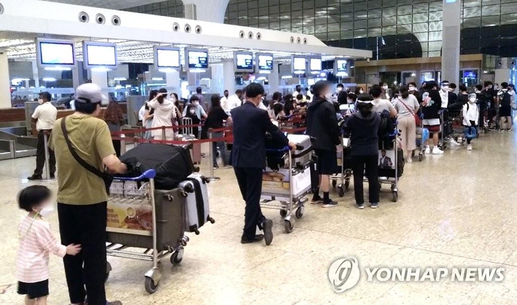 孟買韓僑踏上回國路