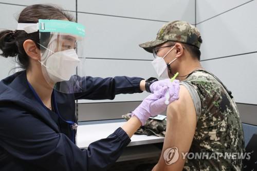 韓未滿30周歲官兵施打疫苗首日接種率8.5%