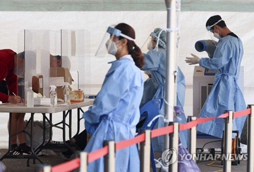 簡訊:南韓新增611例新冠確診病例 累計146303例