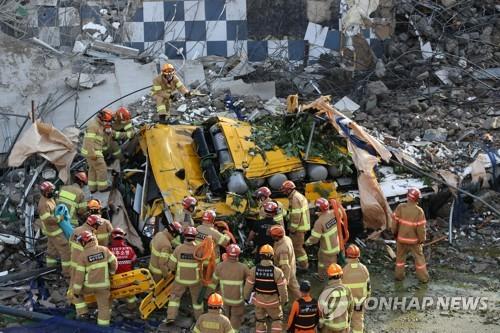 詳訊:韓光州市拆遷樓倒塌致9人死亡8人受傷