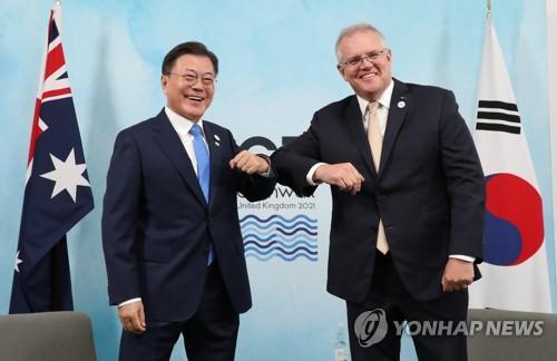 韓澳首腦會談商定拓寬低碳技術領域合作