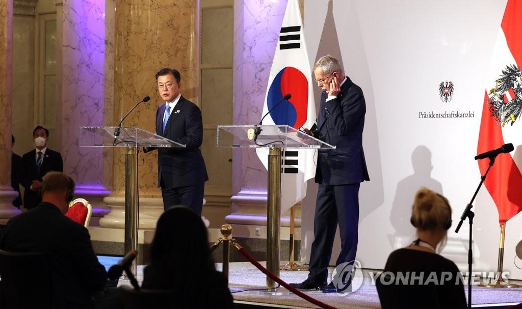 韓奧領導人聯合記者會