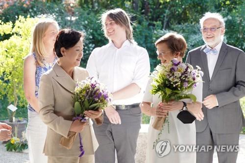 韓總統夫人參觀維也納大學植物園