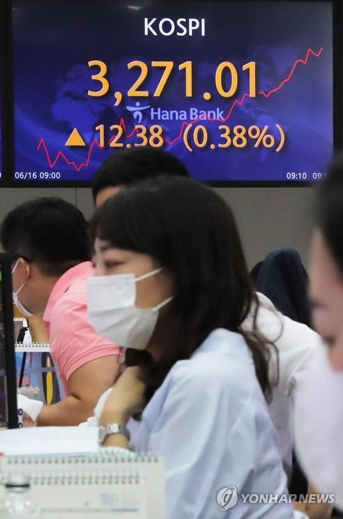 韓KOSPI指數盤中創新高