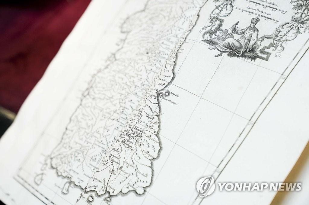 西班牙參議院圖書館收藏的《朝鮮王朝全圖》 韓聯社